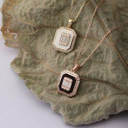 SembolGold - Baget Altın Kolye 14K Gold Mineli