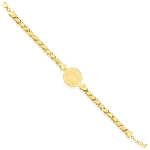 SembolGold - Çeyrek Ziynet Altın Bileklik Pullu Zincirli (1)