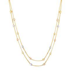 SembolGold - Dorika Altın Kolye (Çift Zincirli)