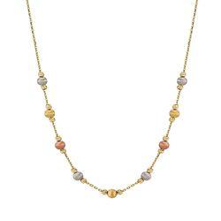 Dorika Altın Kolye Triacolor - Thumbnail