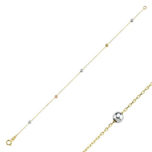 SembolGold - Dorikalı Altın Bileklik 14K Gold 19 Cm