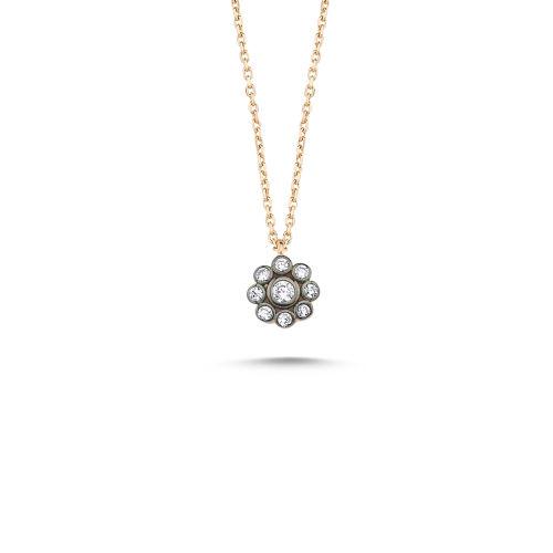 SembolGold - Elmas Montür Rose Altın Kolye 0.5 Cm G-0139712