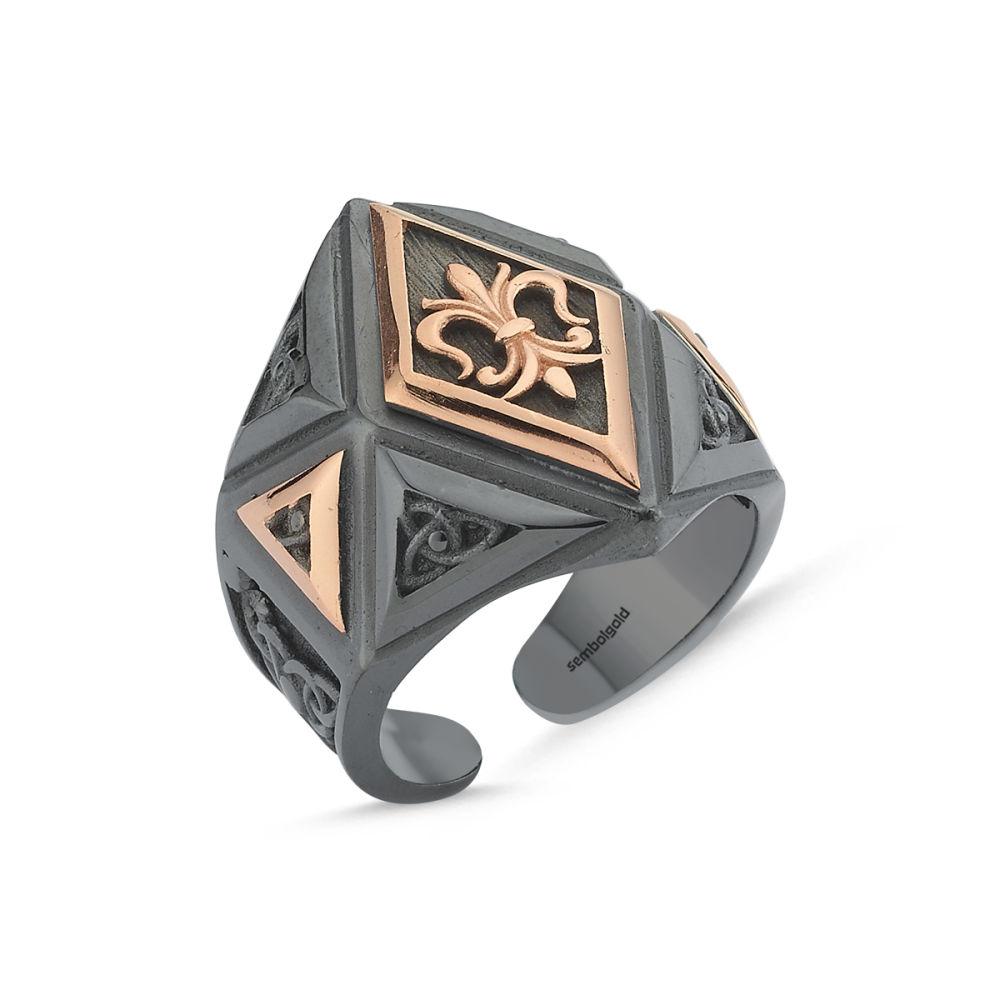 Erkek Gümüş Yüzük Arma Özel Tasarım ALP-0452614