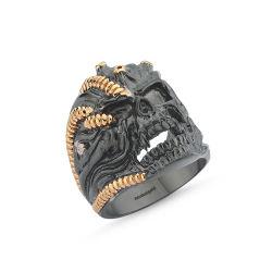 SembolGold - Erkek Gümüş Yüzük İskelet Özel Tasarım ALP-0452605