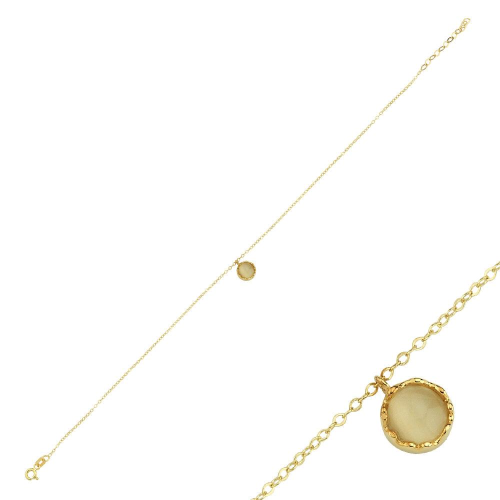 Halhal Altın Bileklik Mercan 20 - 25 cm