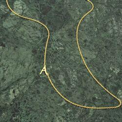 SembolGold - Harf Altın Kolye 14 Ayar Forse Zincir (1)