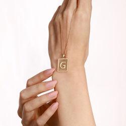 SembolGold - Harf Altın Plaka Kolye Parçalı 2,0-1,5 Cm Taşsız (1)