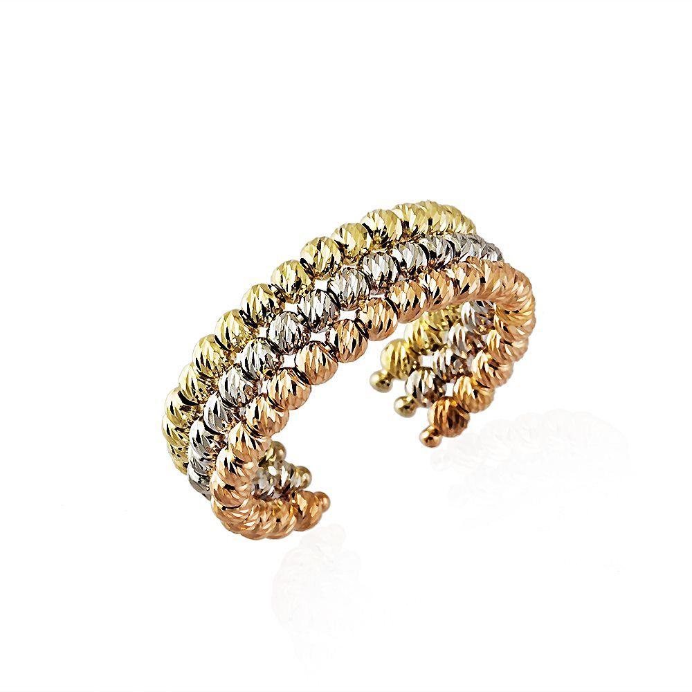 İtaly Dorika Altın Yüzükler 14K Gold 3 Renk