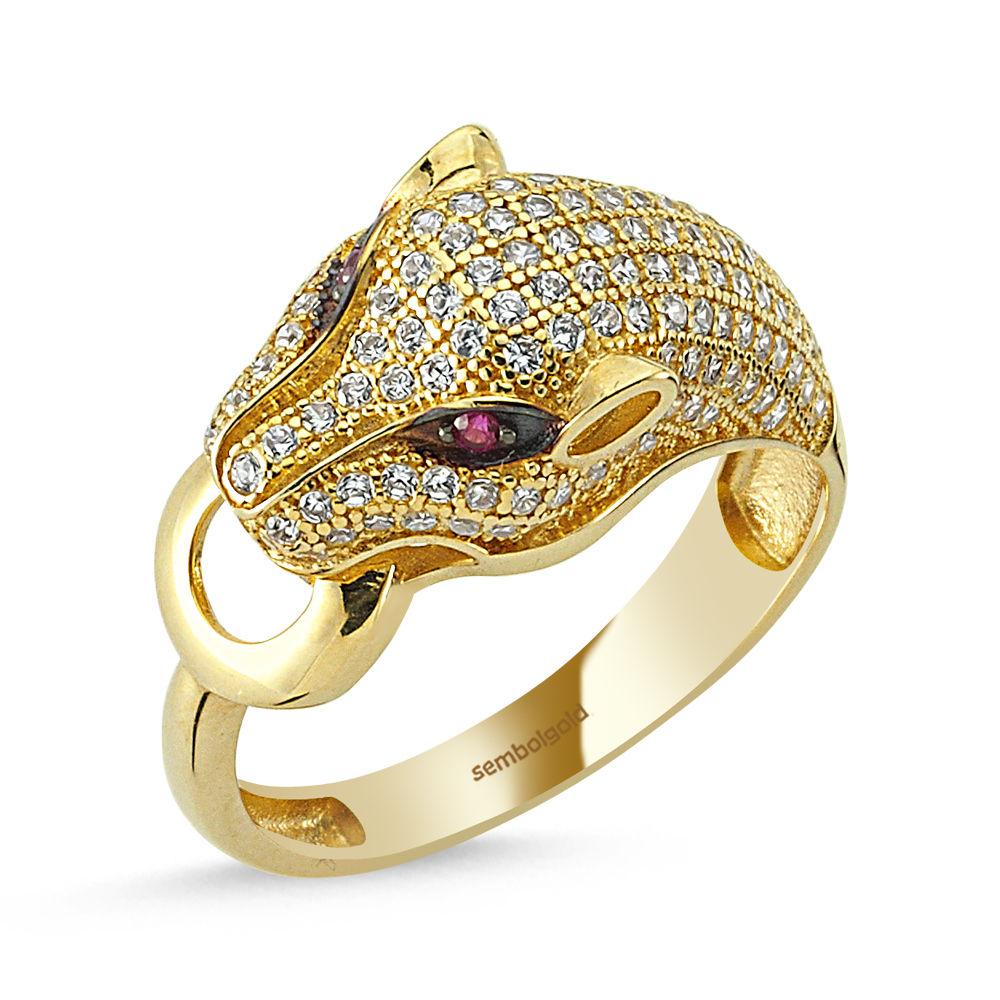 Kaplan Altın Yüzük 14K Gold