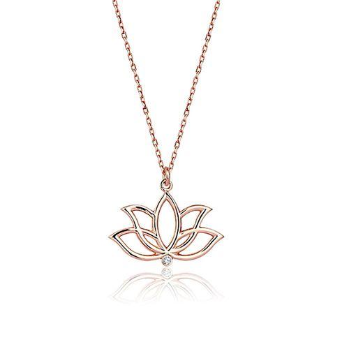 SembolGold - Lotus Pırlanta Kolye