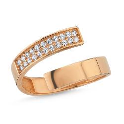 Rose Altın Eklem Yüzük Onix Taşlı N115430552 - Thumbnail