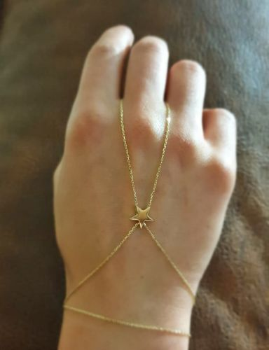 SembolGold - ŞAHMERAN Altın Bileklik Yıldız (1)