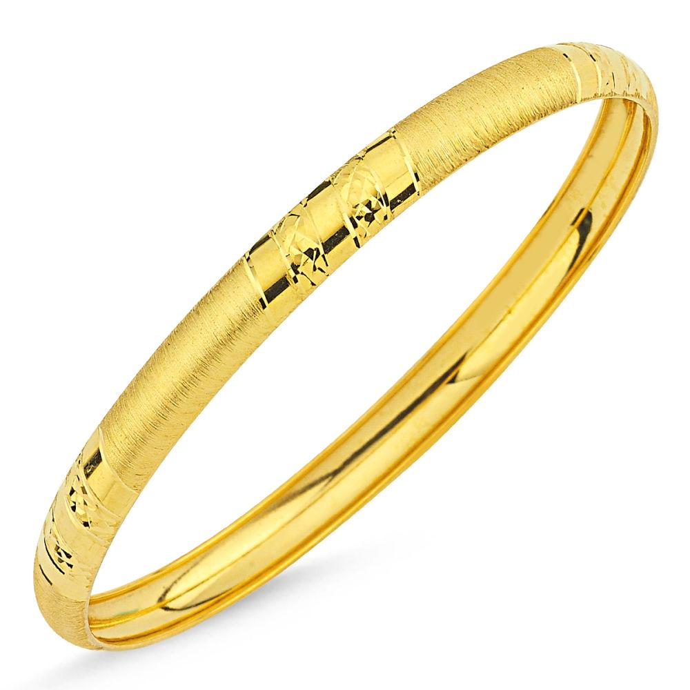 Şarnel Altın Hediyelik Bilezik Çizgili Setina BLZ5620656