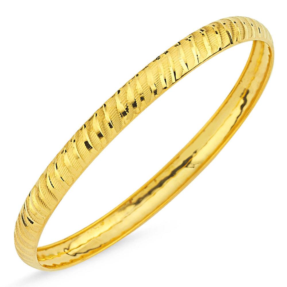 Şarnel Altın Hediyelik Bilezik Yan Çizgili BLZ5620654