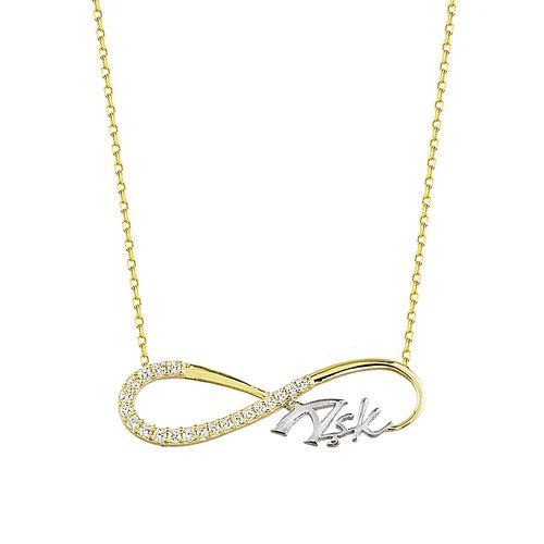 SembolGold - Sonsuz Aşk Altın Kolye 14K Gold