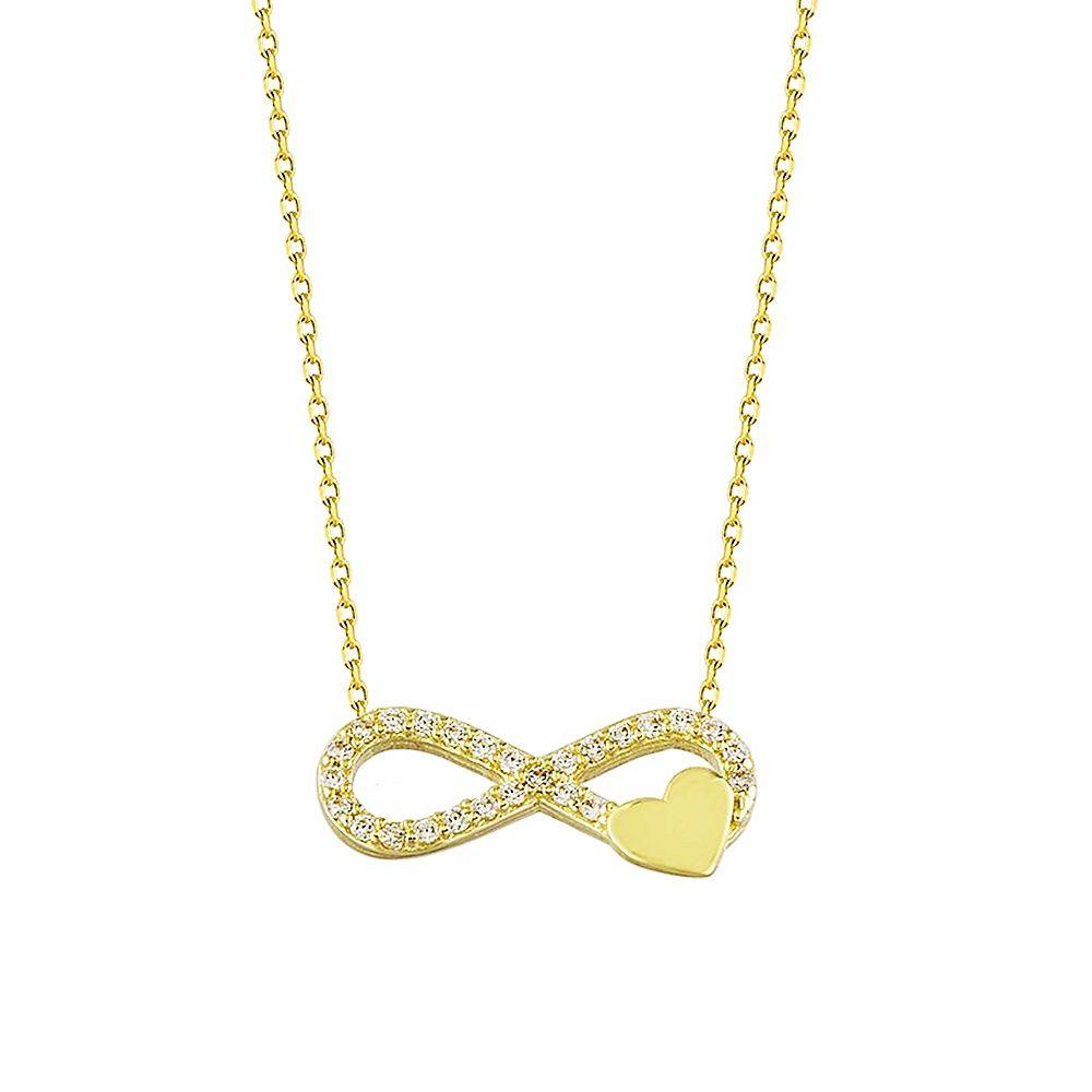 Sonsuz Kalp Altın Kolye 14K Gold