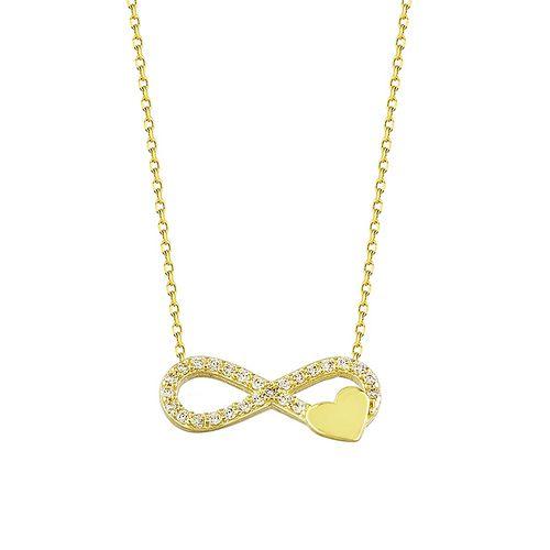 SembolGold - Sonsuz Kalp Altın Kolye 14K Gold