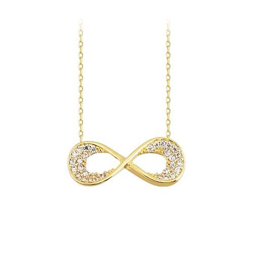SembolGold - Sonsuzluk Altın Kolye 14K Gold