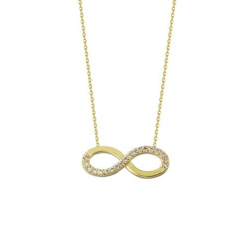 SembolGold - Sonsuzluk Altın Kolye 1,5 cm