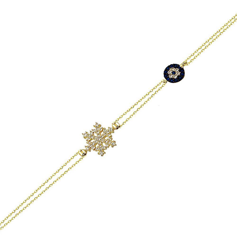 Sosyete Kartanesi Altın Zincir Bileklik 14K Gold 17 Cm