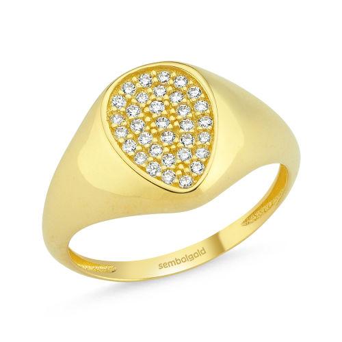 SembolGold - Şövalye Altın Yüzük ARMA 14K Gold