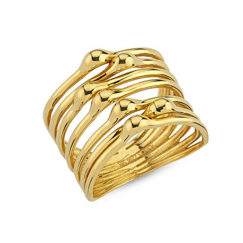 SembolGold - Taşsız Gösterişli Altın Yüzük Taşlı M615430546
