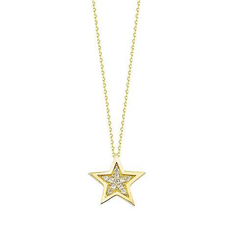 SembolGold - Yıldız Altın Kolye 14K 1,0 cm 1,80 Gram
